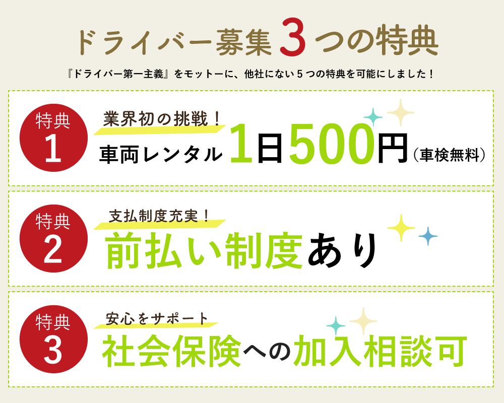 5つの特典